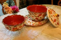 two red-and-white ceramic bowls Folsom, 95630