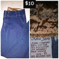 blue Kaba Jeans denim high waist jeans
