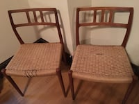 two brown wooden framed brown padded armchairs Washington, 20011