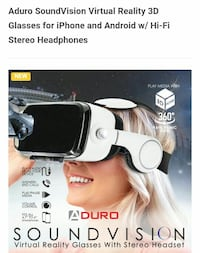 Aduro Sound Vision VR Glasses with Stereo headset