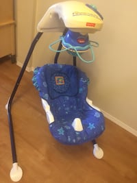 baby's blue and white cradle n swing Edmonton, T6T 0S8