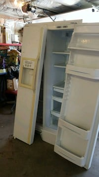 white side-by-side refrigerator/freezer Medicine Hat, T1B 3A2