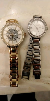 round silver-colored chronograph watch with link bracelet Pueblo, 81008