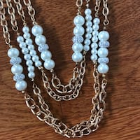 Jessica McClintock Pearl Necklace and Earring Set