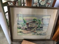 brown wooden framed painting of house Fairfax, 22030