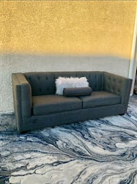 Gorgoeus Charcoal Grey Tufted Sofa, Delivery Available