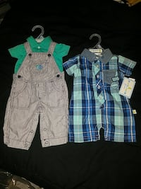 Sz 0-3 months. brand new outfits. 1 has tags ,