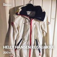 hvit og svart zip-up jakke Bergen, 5096