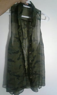 Army tank top/button up