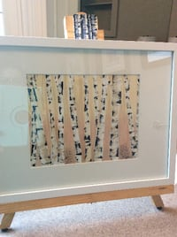 Original Framed Art ~ Watercolour Birches Milton