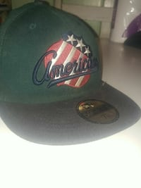 black and green American 59fifty snapback