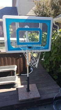 blue and white basketball hoop Plano, 75024