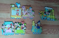 Vintage Disney Mickey Mouse Nursery Wall Cut Out Decor Train $15.00 Bound Brook
