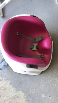 baby's pink and white booster seat Edmonton, T5T 4T3