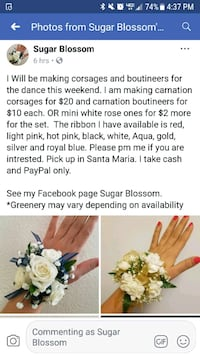 Corsages and bouts for the dance  RANCHO SUEY, 93454