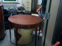 round brown wooden side table SEATTLE