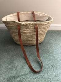 Straw beach bag never used