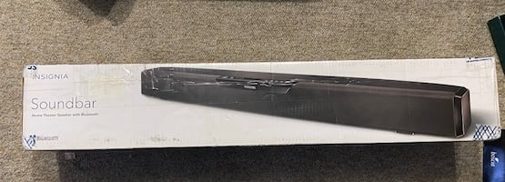 NEW Insignia soundbar w bluetooth(NEW)