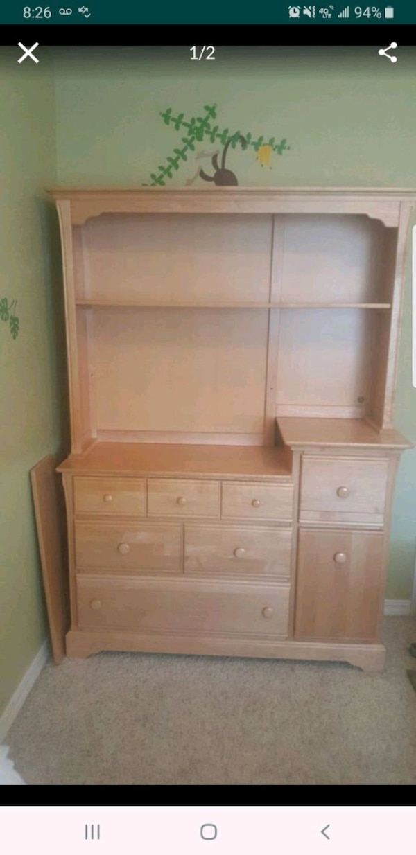 Dresser Changing Table Dresser With Hutch