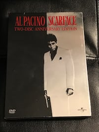 Scarface DVDs 2-disc Anniversary Edition (used) Sterling, 20164