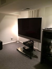 Flat screen television with stand