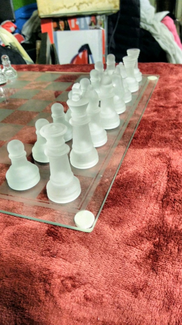 Used Glass Chess With Original Box For Sale In Mesa Letgo