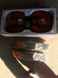 two black-and-red car headlights Dickson, 37055