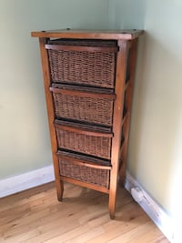 Wicker and wood cabinet Hamilton, L8B