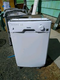 18 in. Portable Dishwasher in White with 8 Place S Eugene