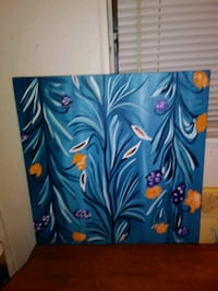 blue and red floral painting Jacksonville, 32233