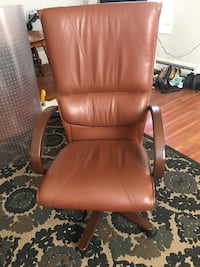 brown leather padded rolling armchair Salt Lake City, 84102