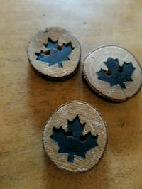 3 Vintage Wood Buttons Toronto