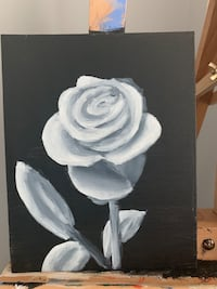 Simple rose- oil painting