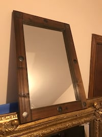 brown wooden framed wall mirror London, SE26 5PW