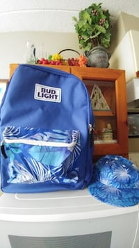 Must go! Bud Light backpack cooler & hat. New. Located in Simcoe. Pickup only.