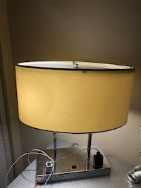 brown wooden base with white lampshade table lamp Miami, 33176