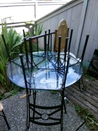 Rod iron and glass kitchen table and chairs projec Victoria, V8T 1E7