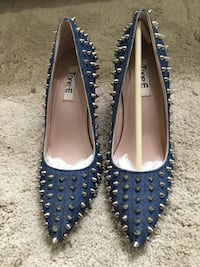 pair of blue leather flats Palo Alto, 94306