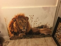 brown and black lion painting Corcoran, 93212