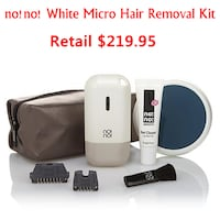 New no!no! White Micro Hair Removal Kit CAPITOLHEIGHTS