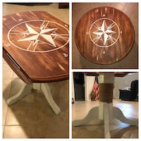 Nautical Brown wooden table seats 4-5 Brookhaven