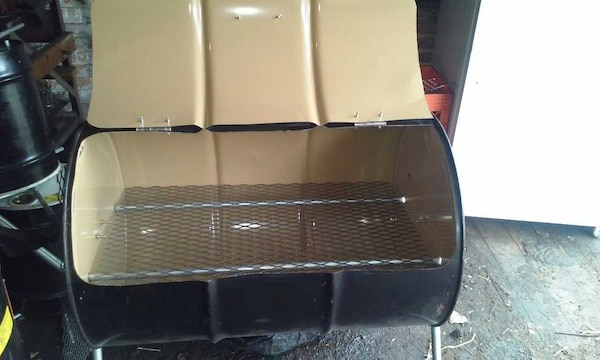 HOMEMADE 55 GALLON STEEL DRUM BBQ GRILL