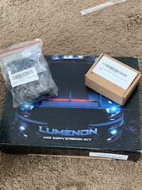 HID headlights and blue and red speedometer lights  Stow, 01775