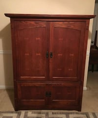 Solid Wood TV Entertainment Center
