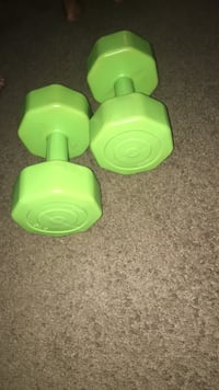two green and green fixed weight dumbbells Washington, 20020