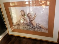 brown wooden frame painting of angels