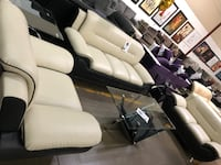 Modern bonded leather sofa, love seat, and chair. Brand new.  Grand Prairie, 75052