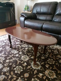 oval brown wooden coffee table Mississauga, L5L