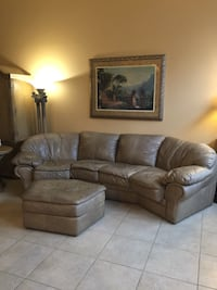 Tan Leather Couch sectional  Las Vegas, 89131