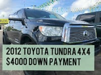 $4000 DOWN PAYMENT 2012 Toyota Tundra Houston